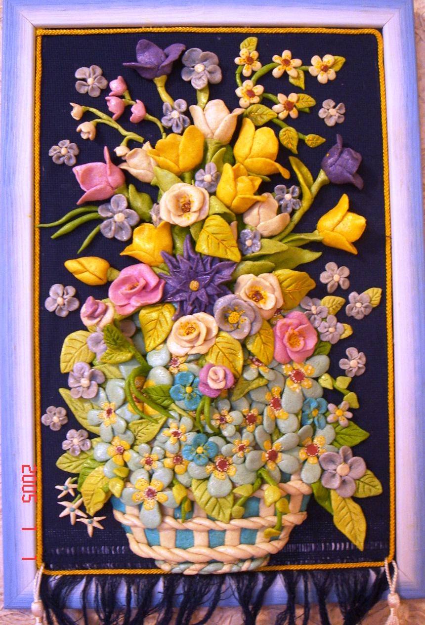 Цветы из соленого теста фото 6