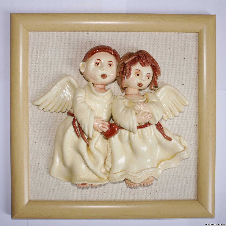 Ангелочек из солёного теста своими руками 24